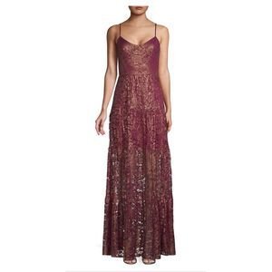 Dress the Population Empire Waist Lace Maxi Gown